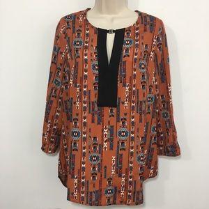 Daniel Rainn southwest print tunic  blouse size 8